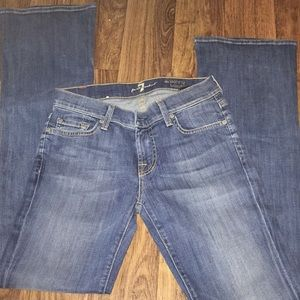7 for all mankind jeans size 26 skinny Bootcut